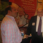 David M. Dworkin, NYSCAR Past President talks with Pat Mucci, Key Bank