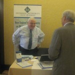 Tim Halligan, Exchange Authority visits with a conference attendee. Both Pat and Tim are long-time supporters of the Annual Conference!